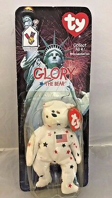 "ORIGINAL and RARE ""GLORY THE BEAR"" TY BEANIE BABY - RETIRED- NIB...tag error"
