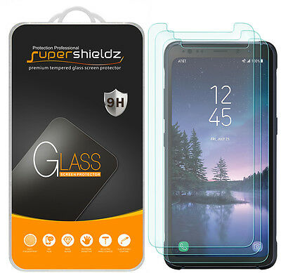 """3X Supershieldz for Samsung """"Galaxy S8 Active"""" Tempered Glass Screen Protector"""