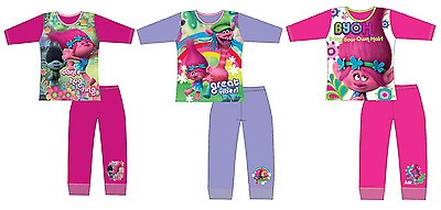 Trolls Pyjamas Set, Dreamworks Trolls For Girls,Size 4-5, 5-6, 7-8 & 9-10 Years