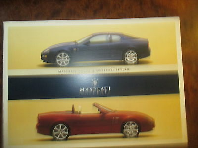 Maserati Spyder and Coupe Sales Brochure 2003 USA Edition