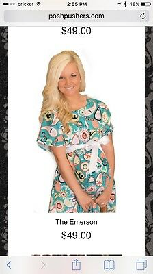 Posh Pushers Med Hospital Gown And Baby Gown