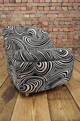 Vintage Lounge Chair 70er Psychedelic Chair Mid Century Design Flower Power 70s