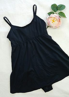 Motherhood Maternity One Peice Black Tankini Swimsuit Size Medium