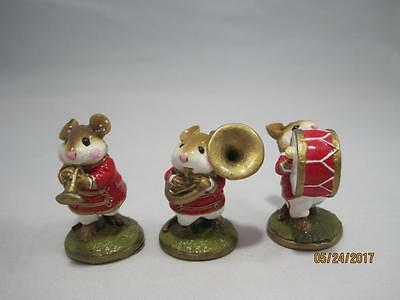 Wee Forest Folk Red 3-Piece Band, Trumpeter, Drummer, and Tuba Player - Retired