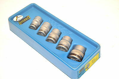 "Vintage NOS HAZET W.GERMANY 5Pc 1/2"" Dr 900C/5K CLIP Socket SET 13,15,17,19,22mm"