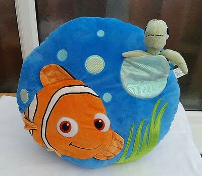 *finding Nemo And Squirt Cushion,  Pillow,  Soft Toy,  Disney Store,  Pixar