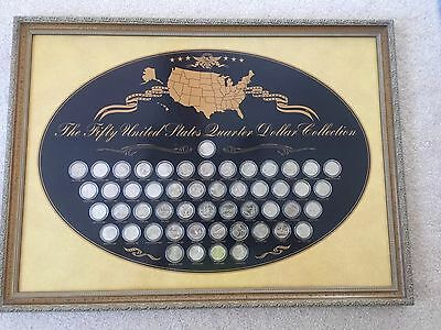 The Fifty United States Quarter Dollar Collection,Complete 1999-2008 Framed