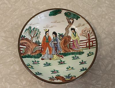 Japanese Porcelain Bowl Hand Decorated in Hong Kong
