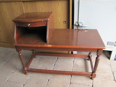 Lovely Vintage Timber Telephone Table Seat
