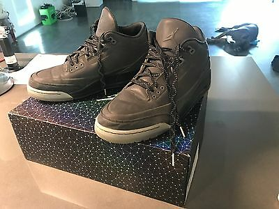2147f877c215b0 NIKE AIR JORDAN 5Lab3 Retro 3 III 3M Black Reflective 631603-010 Sz ...