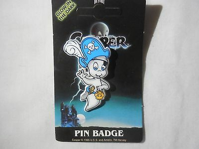 RARE '95 Casper the Friendly Ghost Pin by Dufort & Sons made in the UK Pirate