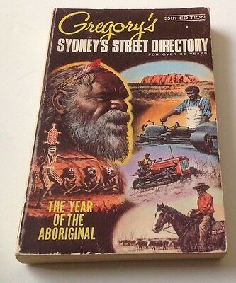 Vintage Gregory's Sydney Street Directory -35th Ed - The Year Of The Aboriginal