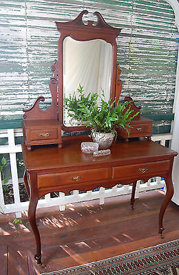 French Louis XV Style Antique Mahogany Dresser / Dressing / Hall Table