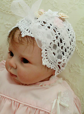 Hand Crocheted Cap To Suit Infant 0-3 Months Or Reborn Doll