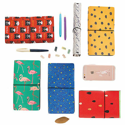 8 x 5 In Notebook Journal Cover Refillable Traveler Notebook Diary 60 Pages EB5