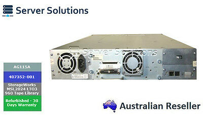 AG115A - HPE StorageWorks MSL2024 LTO-3 960 Tape Library (407352-001)