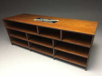 Antique Western Union Telegraph Blanks Wood Cabinet Shelf Store Display