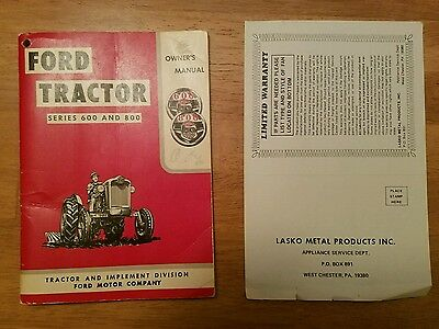Original Ford Tractor 600 And 800 Tractor Owners Manual