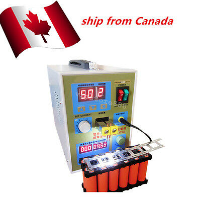 LED Dual Pulse Spot Welder Mood Selectable Charger 800A 0.1-0.2 mm Canada Ship