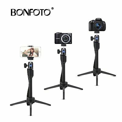 BONFOTO Tabletop Tripod Holder Swivel Ball Head Aluminum for Phone and Camera