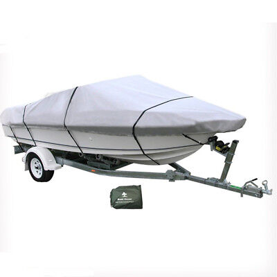 16-18 ft Trailerable Marine Boat Cover 4.9-5.6M Rain Sun UV Half Cabin 20008006