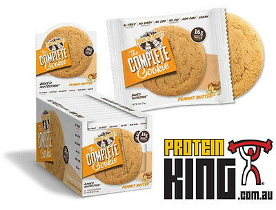 LENNY & LARRYS THE COMPLETE COOKIE BOX OF 12 x 113G PEANUT BUTTER PROTEIN LARRY