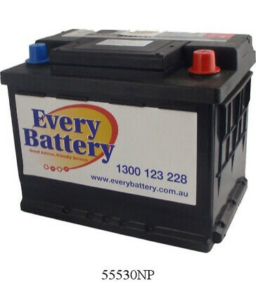 Holden Commodore Car Battery Current Model VE 6 Cyl 2006 on 55530NP 3 year warra