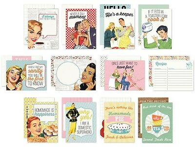 "Authentique - SAUCY - Life Cards - 3x4"" pocket crafting cards"