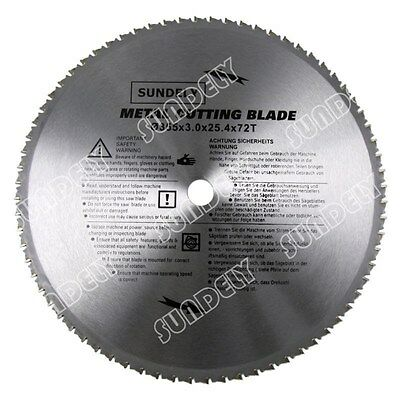 NEW 355mm Professional Silver PMC Metal TCT Cutting Circular Saw Blades UK