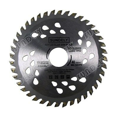 NEW 2 x 115mm Angle Grinder saw blade for wood and plastic 40 TCT Teeth