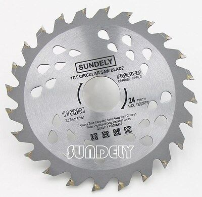 NEW 115mm Angle Grinder saw blade for wood and plastic 24 TCT Teeth