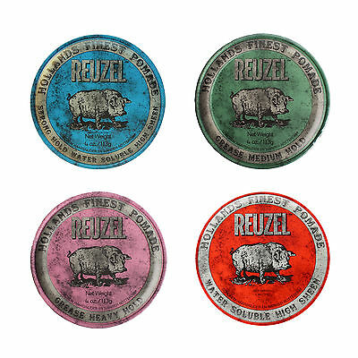 Reuzel Hair Styling Pomade BLUE / GREEN / PINK / RED - 113g *AU FAST SHIP*