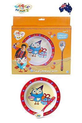 Aus Qlty Giggle and Hoot Baby Feeding Bowl & Spoon Gift Set-Nursing-ABC Kids