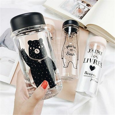 500ML Creative Fashion Portable Leakproof Cycling Water Bottle Plastic Kettle