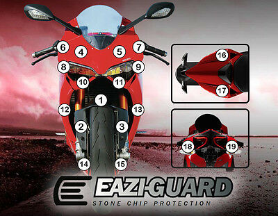 Eazi-Guard™ Ducati 1199 Panigale 2012-2017 Motorbike Stone Chip Protection Kit