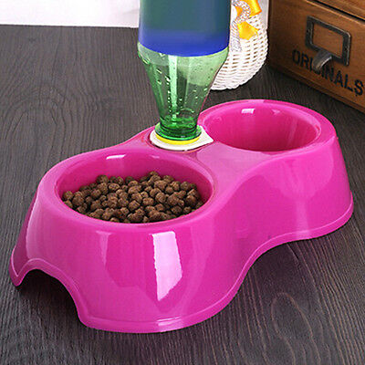 Water Dispenser Automatic Food Dish Bowl Feeder Drink Bowl Bottle Pet Dog Cat