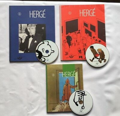 Tintin Studio Herge Lot Cahier Catalogues 2 3 4 + 3 Dvd / Moulinsart Tbe
