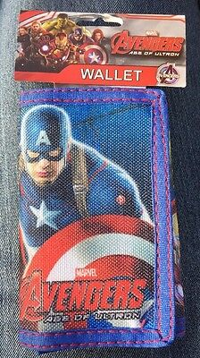 MARVEL AVENGERS Captain America Iron Man Hulk Thor Super Hero Wallet ~NEW~
