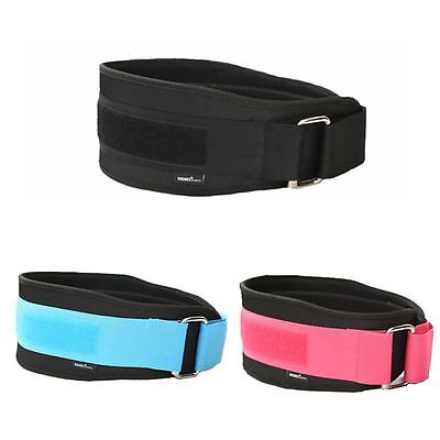 "Weight Lifting 5.2"" Leather Belt Back Support Strap Gym Power Training Fitness"