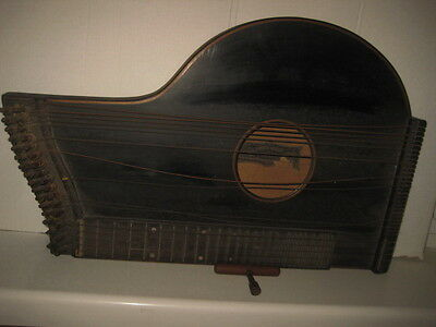 Old wood zither-gittern HENRICH HANSCH Graz Neuthorgasse period 1900-193