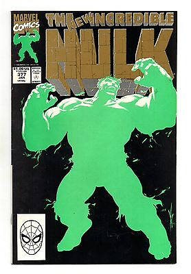 Incredible Hulk Vol 1 No 377 Jun 1991 (VFN+ to NM-) 2nd Print Neon Green Cover