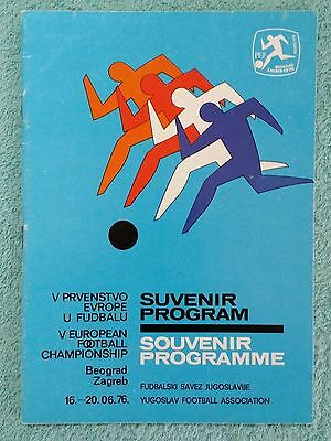 1976 - Official European Championship Tournament Programme