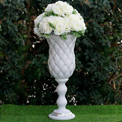 "6 pcs WHITE 24"" tall Decorative Wedding Party Vases Centerpieces Decorations"