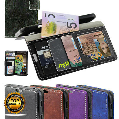 Moto Leather Flip Wallet Case, G4 / G5 / Plus / X Force / Z play Cover AU