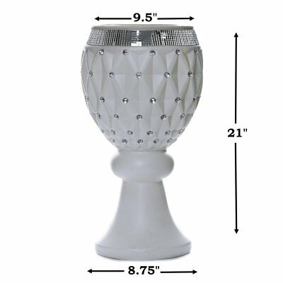 "4 pcs WHITE 21"" tall Decorative Wedding Party Vases Centerpieces Decorations"