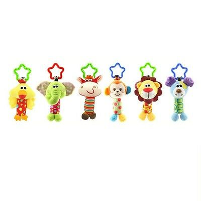 Baby Infant Rattles Plush Animal Stroller Hanging Bell Play Toy Doll Soft Bed AU