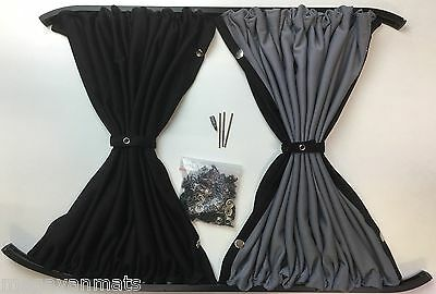 Curtains To Fit Ford Transit Custom Barn Doors With  Black Rails