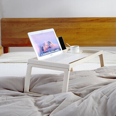 Foldable Breakfast Food Serving Serve Bed Tray Table with iPad iPhone Holder