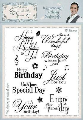 Phill Martin INKSPIRATIONAL BIRTHDAY SENTIMENTS A5 Clear Stamp Set