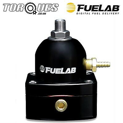 Fuelab Mini EFi Three Port Fuel Pressure Regulator ORB-6 Black - 53501-1